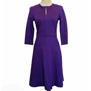 Hobbs London Anais Dress in Royal Purple Size 4